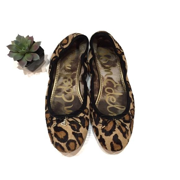 c184cc0a8efb5d Sam Edelman Felicia Leopard Print Calf Hair Flats.  M 5bc6bb47534ef9e2ec23ef87